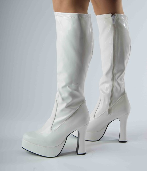 a17b29ad5df39 Platform Boots - White Patent - Size 7