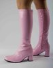 Knee High Boots - Pink Patent - Size 10