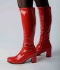 Knee High Boots - Red Patent - Size 7