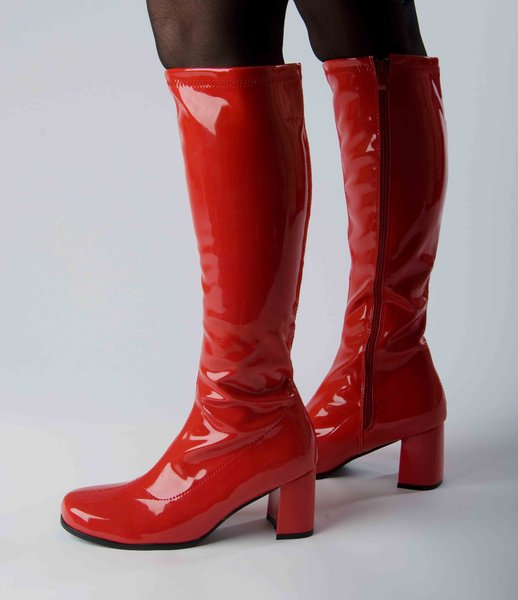 knee high boots patent size 8