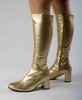 Knee High Boots - Gold - Size 5