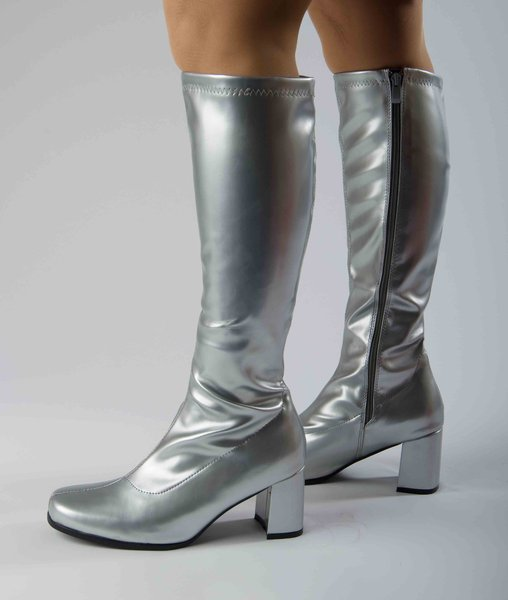 knee high boots silver size 5