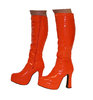 Platform Boots - Orange Patent - Size 7