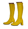 Knee High Boots - Yellow Patent - Size 7