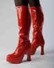 Platform Boots - Red Patent - Size 4